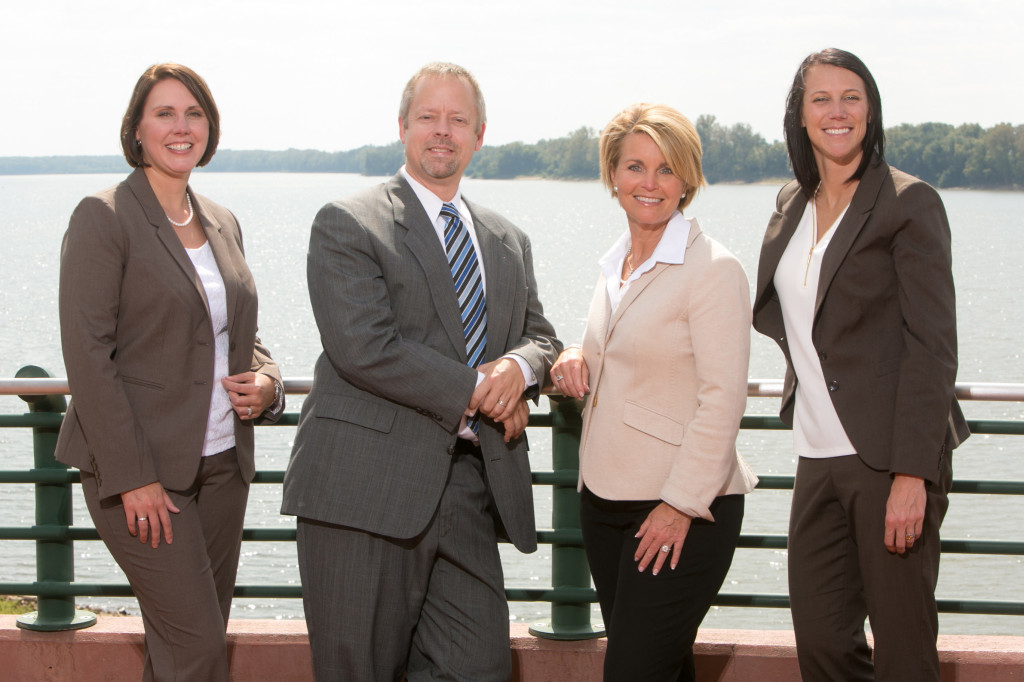 Members of the Tax Consulting & Compliance Department with the Ohio River in the background.