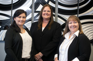 Kimberly Moore, Bonnie Waelde, and Michele Merriman are credentialing specialists for HSC Medical Billing