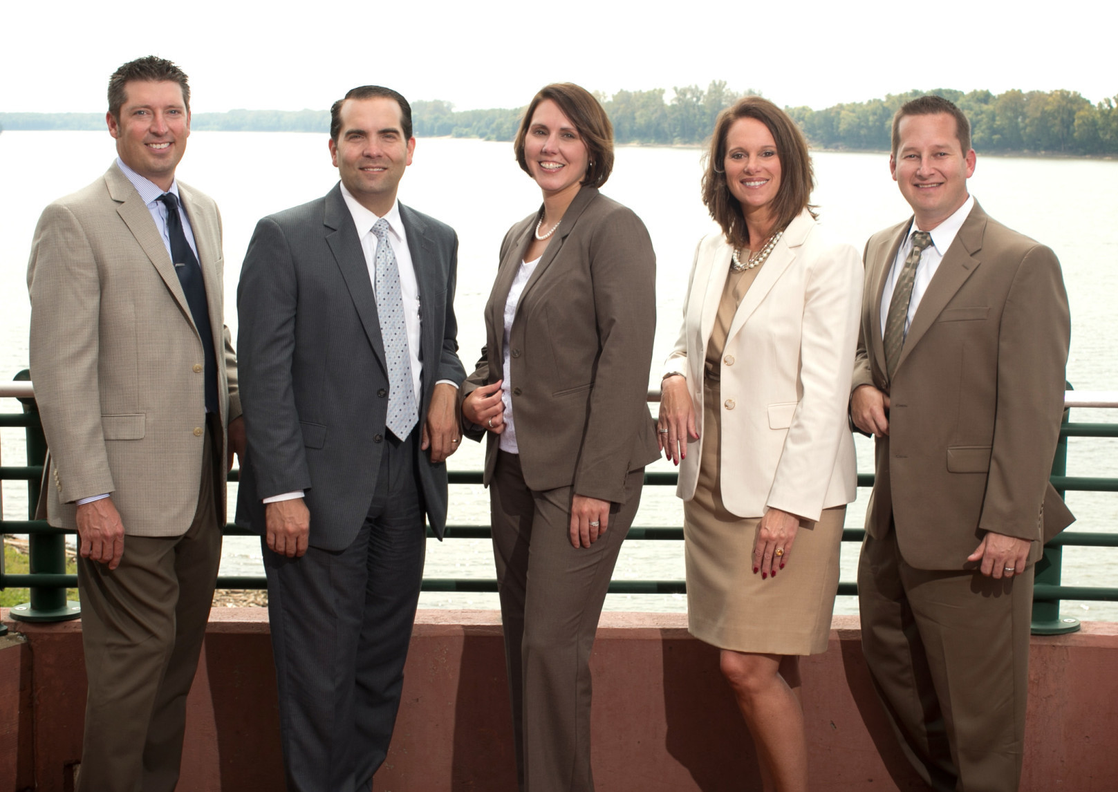 Management team members Paul Esche, Scott Olinger, Michele Graham, Lisa Frank, and Kyle Wininger