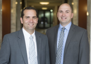 Scott Olinger and John Ritticher at the Louisville office