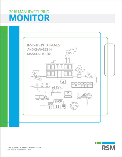 Front Cover of RSM 2016 Manufacturing Monitor Cover