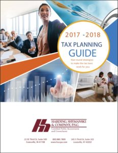 cover image of 2017-2018 Harding Shymanski Tax Planning Guide