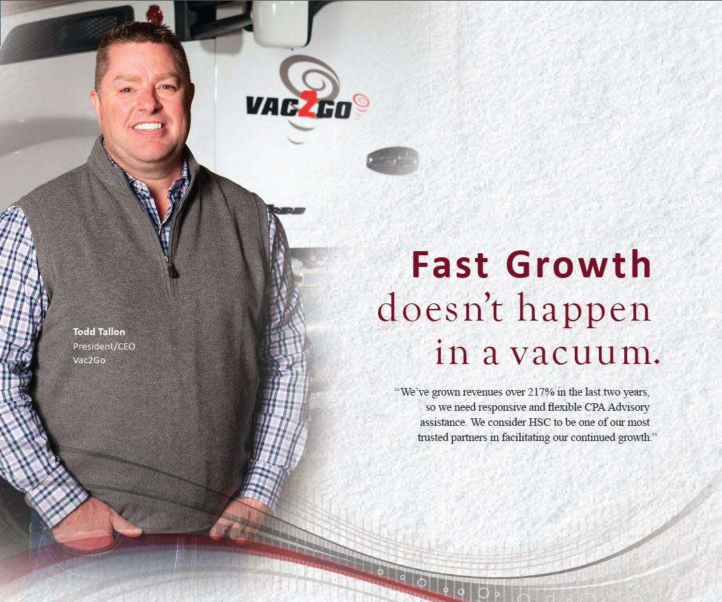 Todd Tallon president and ceo of Vac2Go was honored for his company's fast growth in Louisville